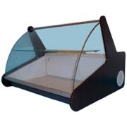 Настольная витрина с гнутым стеклом