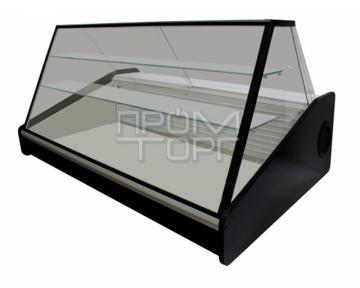 Настольная витрина дешево со стеклопакетом Люкс две полки