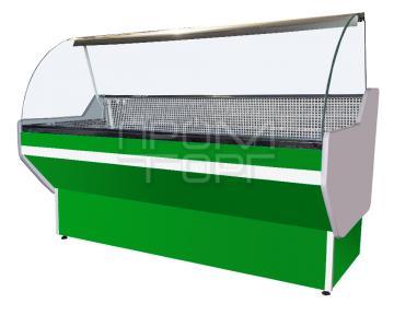 Витрина холодильная СТАНДАРТ с гнутым стеклом купить в Белой Церкви