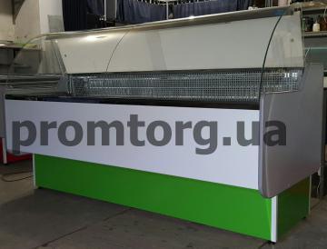 Витрина универсальная Стандарт с гнутым стеклом купить в Днепре