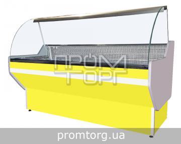 Витрина универсальная Стандарт с гнутым стеклом купить в Чернигове