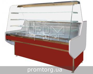 Кондитерская холодильная витрина Конди с гнутым стеклом купить в Киеве