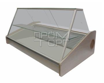Настольная витрина дешево со стеклопакетом Люкс одна полка