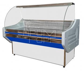 Витрина универсальная Стандарт ЛЮКС с гнутым стеклом купить в Чернигове