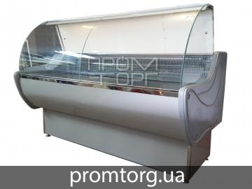 Витрина холодильная Стандарт ЛЮКС с гнутым стеклом