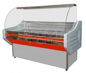 Витрина холодильная Стандарт ЛЮКС с гнутым стеклом купить в Киеве