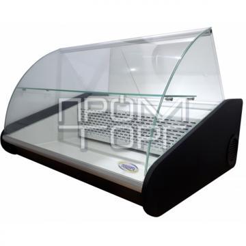 Настольная универсальная витрина с полкой гнутое стекло автоматическая купить в Чернигове