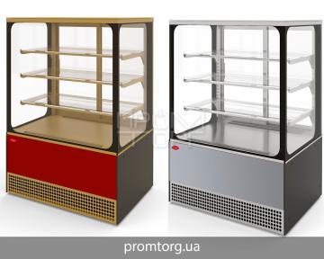 Кондитерская витрина Veneto Cube (стеклопакеты) купить в Киеве