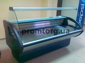 Витрина холодильная Римини с гнутым стеклом купить в Киеве