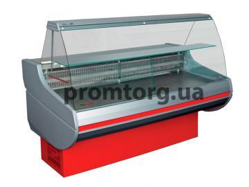 Витрина холодильная Сиена с гнутым стеклом купить в Киеве