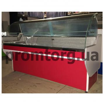 Витрина холодильная без охлаждаемого бокса Эко с гнутым стеклом купить в Днепре