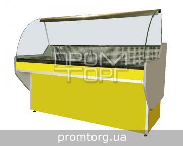 Витрина холодильная без охлаждаемого бокса Эко с гнутым стеклом купить в Чернигове