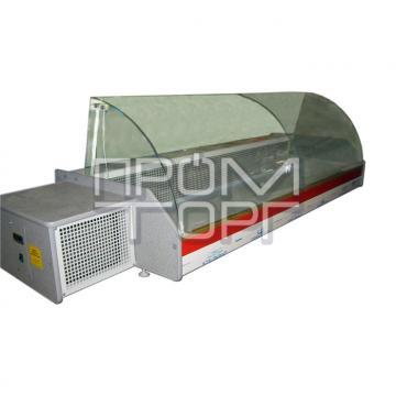 Настольная витрина холодильная Эко-Н с гнутым стеклом купить в Чернигове
