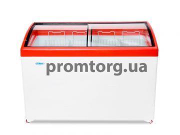 Морозильный ларь с гнутым стеклом купить в Киеве