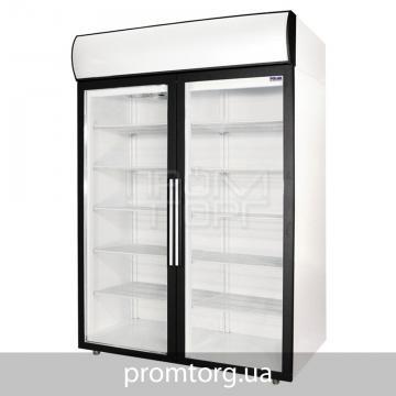 Холодильный шкаф со стеклянной дверью Полаир DM на 1000 и 1400 л двухдверный купить в Белой Церкви