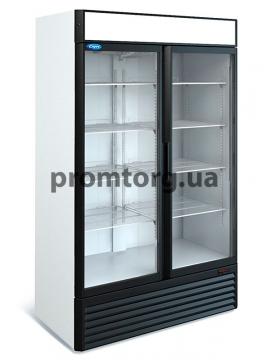 Шкаф холодильный со стеклянными дверьми купе