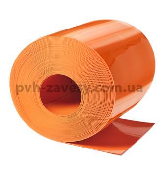 Матовая оранжевая ПВХ штора силиконовая