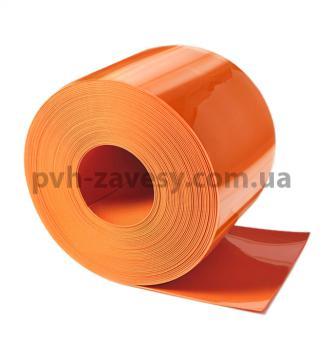 Оранжевая матовая ПВХ лента силиконовая