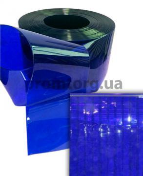 Лента силиконовая ПВХ синяя прозрачная