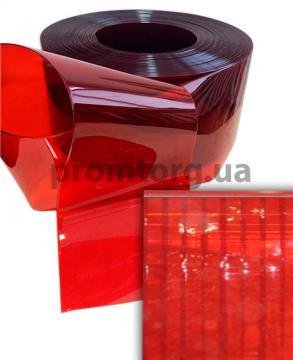 Красная прозрачная силиконовая штора ПВХ