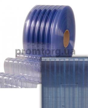 Прочная ПВХ штора из широкой ребристой силиконовой ленты