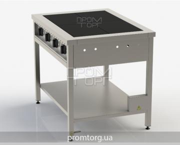 электрическая промышленная четырехконфорочная плита без духовки