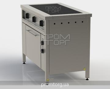 электроплита 3-х конфорочная промышленная с духовкой