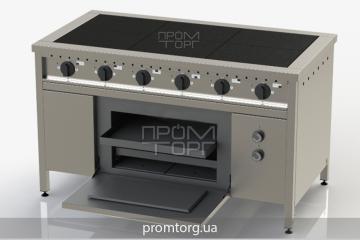 Плита электрическая 6-ти конфорочная с духовкой ЭПК-6 с духовкой купить в Киеве