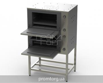 промышленный двухсекционный жарочный шкаф