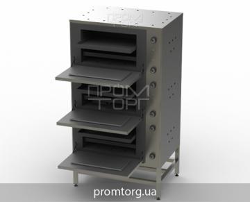 трехсекционный жарочный шкаф промышленный