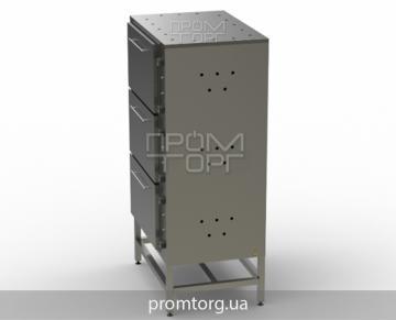 промышленный жарочный шкаф на три секции