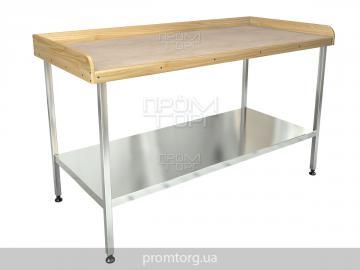производственный стол для мучных работ с полкой