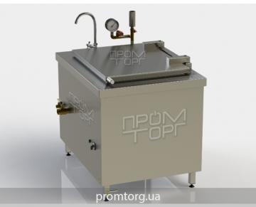 промышленный пищеварочный котел на 100 л с прямоугольной чашей