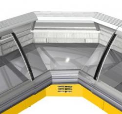 Холодильная угловая витрина SORRENTO- Украина ПРОМТОРГ