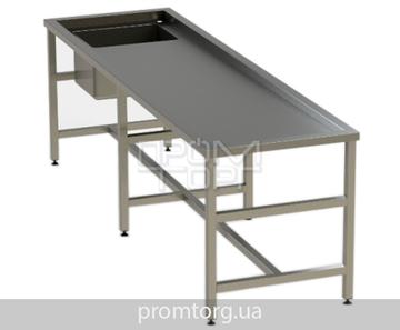 Секционный стол для аутопсии из нержавейки