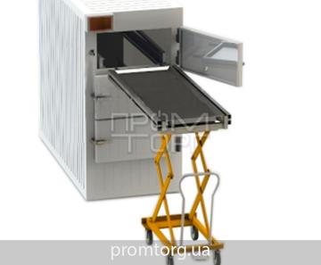 Тележка с подъемным механизмом гидравлическая для трупов до третьего уровня