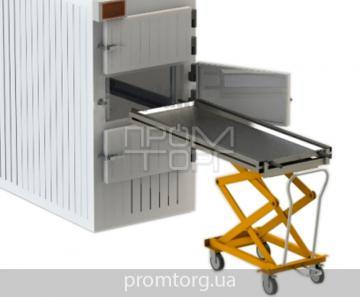 Тележка подъемная гидравлическая для морга до второго уровня купить в Чернигове