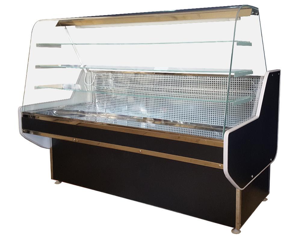 Кондитерская холодильная витрина Конди с гнутым стеклом купить в Сумах