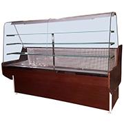 Кондитерская холодильная витрина Конди с гнутым стеклом