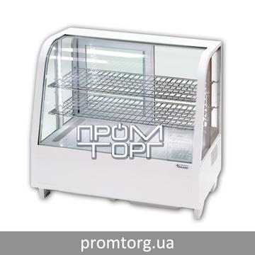 Холодильная витрина настольная на 100 л Stalgast Польша с гнутым стеклом