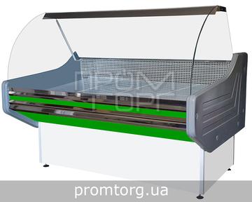 Витрина универсальная Престиж ЛЮКС с гнутым стеклом