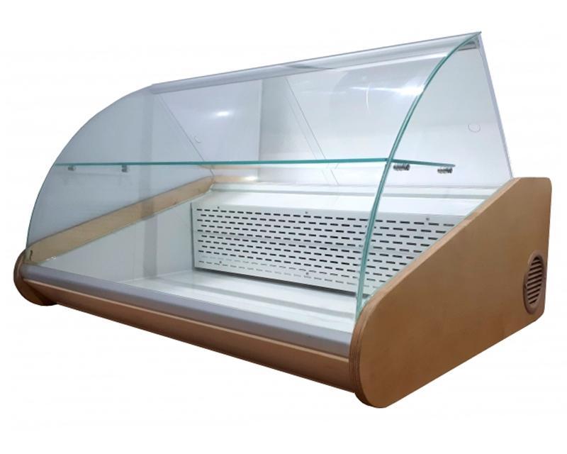 Настольная холодильная витрина Люкс с гнутым стеклом и одной полкой автоматическая  купить в Сумах