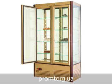 Витринный шкаф кондитерский на 800л Полюс Carboma