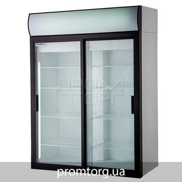 Шкаф холодильный Polair на 1000 и 1400 л со стеклянной дверью-купе