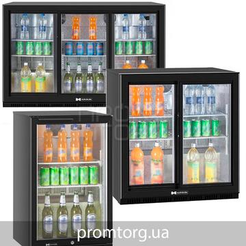 Барный холодильный шкаф стеклянный Hurakan DB