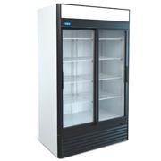 Шкаф холодильный с двумя стеклянными дверьми Капри на 1100 л