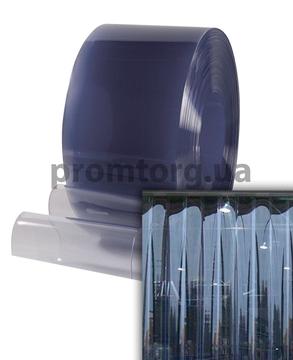 Французская ленточная ПВХ завеса прозрачная 300*3 мм